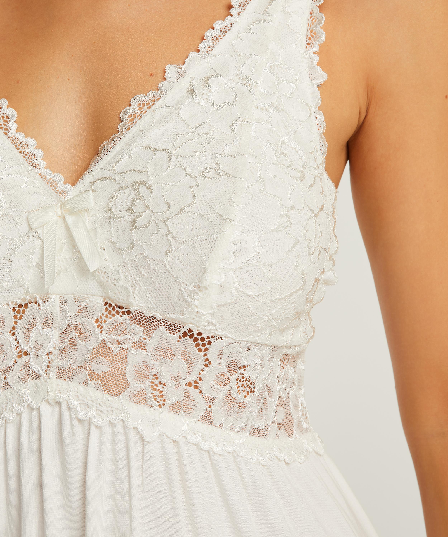 Underklänning Modal Lace, Vit, main