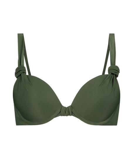 Luxe formpressad bikiniöverdel med bygel Storlek E +, grön