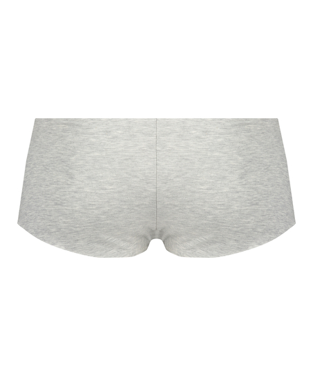 Osynlig boxertrosa i bomull, Grå