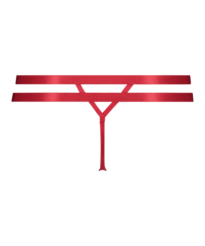 Manu stringtrosa, röd, main
