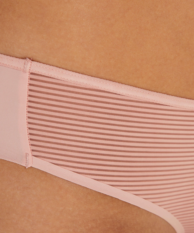 Brazilian-trosa Invisible Stripe Mesh, Rosa, main