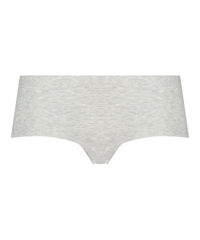 Osynlig boxertrosa i bomull, Grå, main