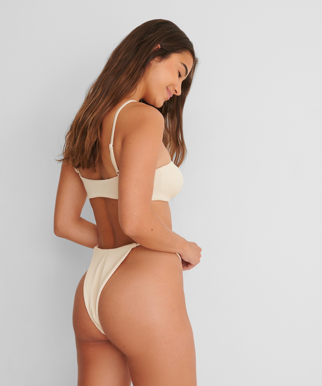 High-cut bikini bottoms Texture HKM x NA-KD, Vit, main