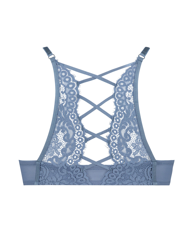 Formpressad bygel-bh med push-up Cardi, blå, main