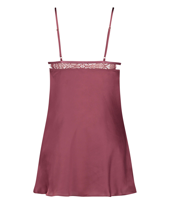 Satin Holly underklänning, röd, main
