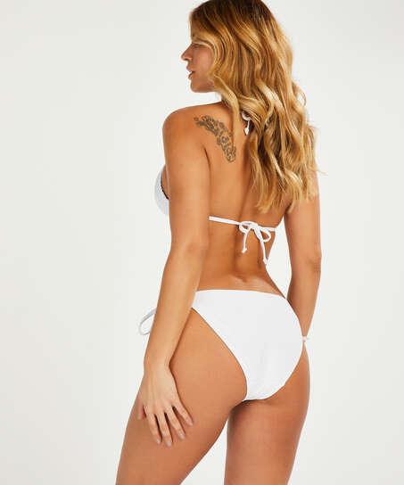 Remi Stitch triangel-bikinitopp, Vit