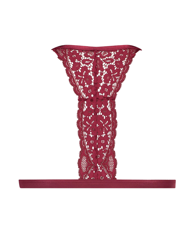 Vadderad triangel-bralette Rose, röd, main