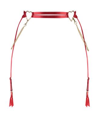 Strumpebandshållare med hjärta, röd
