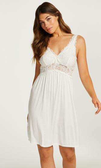 Underklänning Modal Lace, Vit