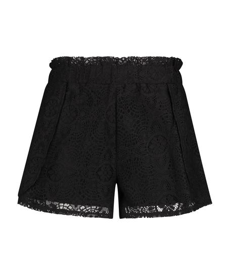 Lace shorts, Svart