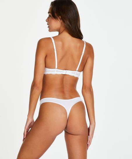 2-pack stringtrosor Angie, Vit