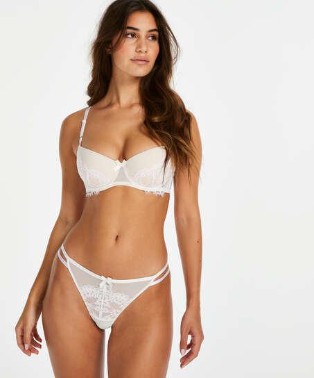 Leyla tanga-stringtrosa, Vit