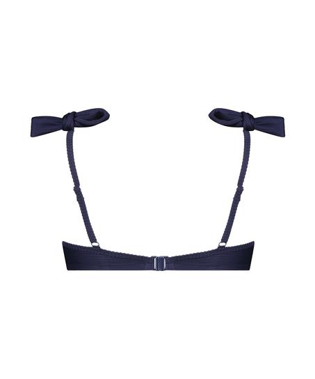 Harper formpressad bikiniöverdel med bygel, blå