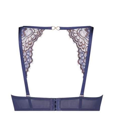 Rya formpressad axelbandslös bygel-bh, blå