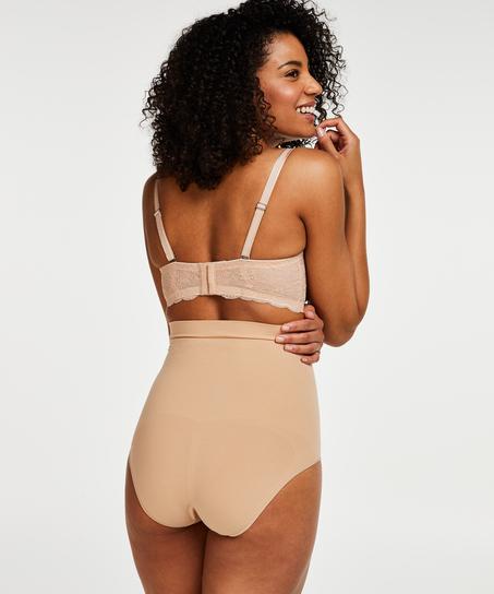 Uppstramande kort kjol med hög midja - Level 2, Beige