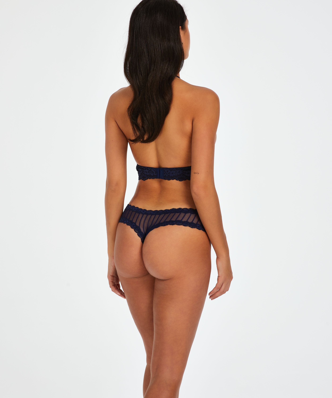 Brazilian-trosa V-shape mesh, blå, main
