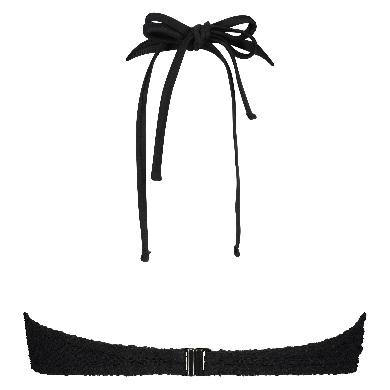 Crochet Bikini Top , Svart, main
