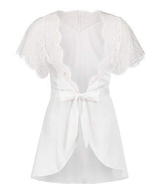 Kimono Cap Sleeve, Vit