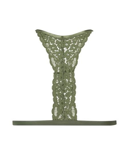 Vadderad triangel-bralette Rose, grön