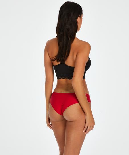Brazilian-trosa Invisible Stripe Mesh, röd
