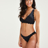 Scallop triangel-bikiniöverdel, Svart