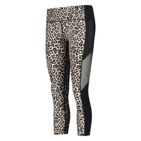 HKMX högt skurna capri Leopard , Grå