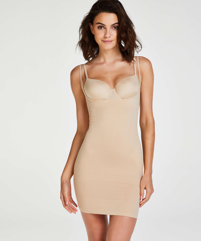 Uppstramande klänning - Level 2, Beige, main
