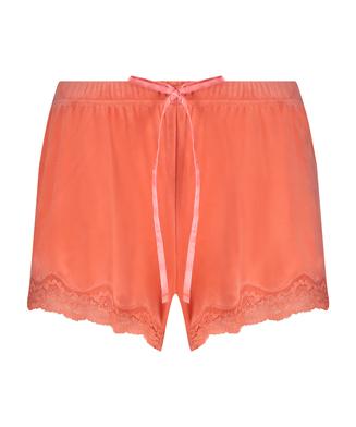 Shorts i sammet och spets, Orange