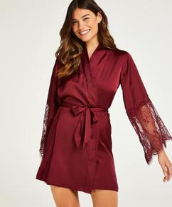 Kimono Satin, röd