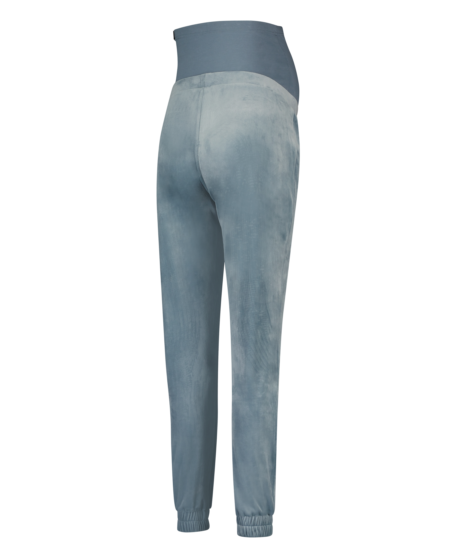 Mamma-joggingbyxa i velours, blå, main