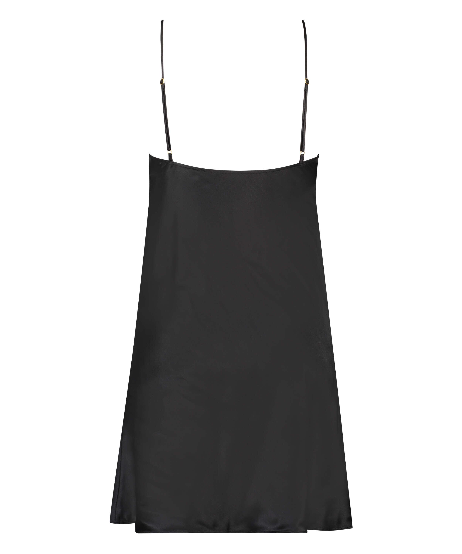 Underklänning i siden och spets, Svart, main