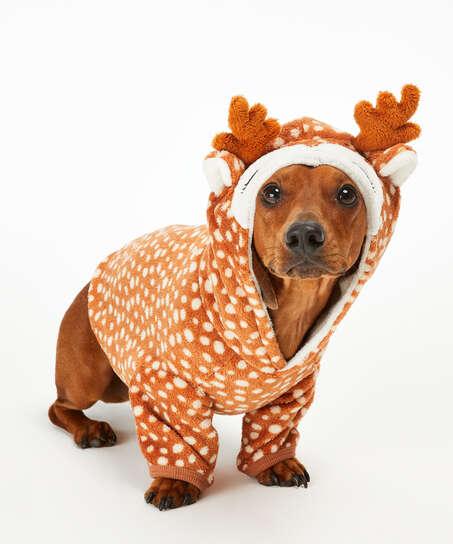 Onsie i fleece för hundar, Brun