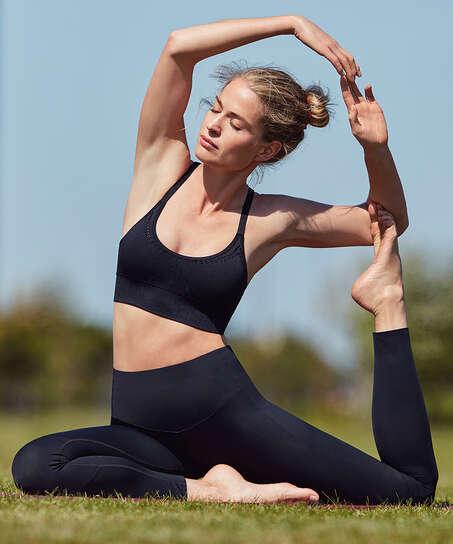 HKMX Make Me Zen sportleggings med hög midja, Svart