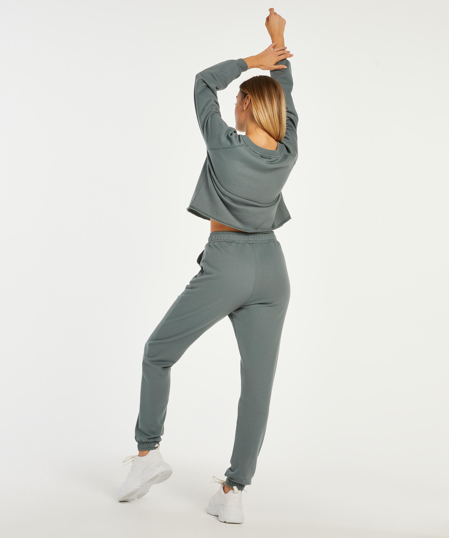 Sweat French joggingbyxor , grön, main