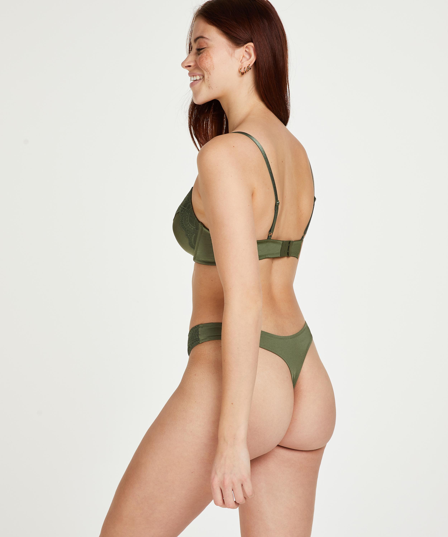 Gina formpressad bygel-bh, grön, main