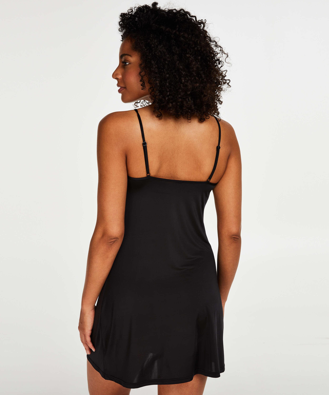 Utslätande underklänning - Level 1, Svart, main
