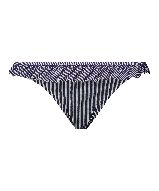 Rio bikiniunderdel Ruffle Stripe, blå, main