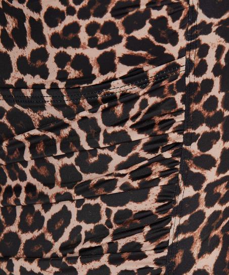 Leopard-baddräkt, Beige