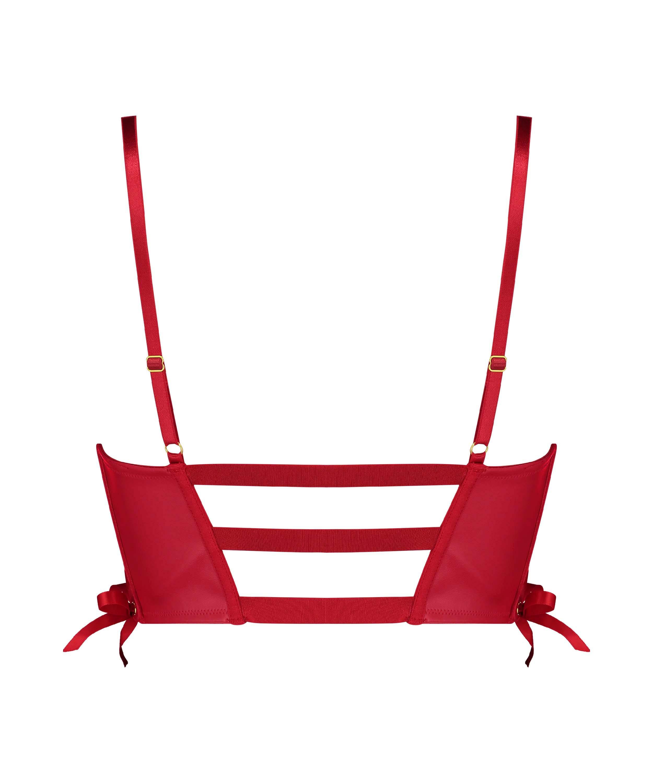 Formpressad bygel-bh med push-up Manu, röd, main