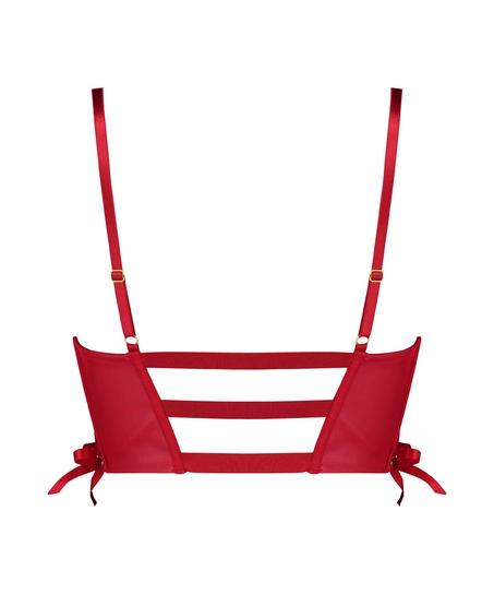 Formpressad bygel-bh med push-up Manu, röd