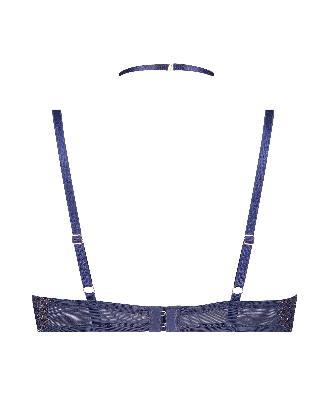 Rya formpressad longline-bh med bygel, blå, main