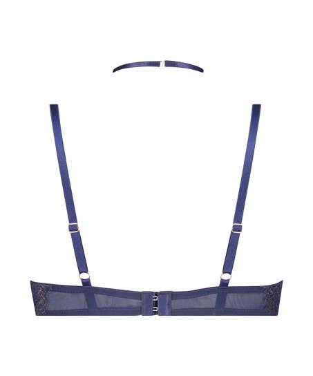 Rya formpressad longline-bh med bygel, blå