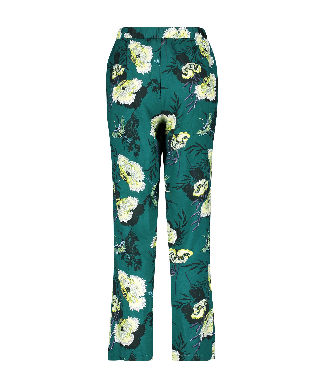 Tall Lotus Bird stickade pyjamasbyxor, Grå, main