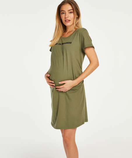 Kortärmat mammanattlinne, grön