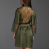 Kimono Satin Lily, grön